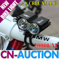 Wholesale FS Solarstorm X2 xCREE XM L XML U2 LED Bicycle Light LM Dual Head Bike Light V Battery Pack Charger CN X2