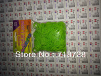 Wholesale High quality color rubber bands bag including C clips