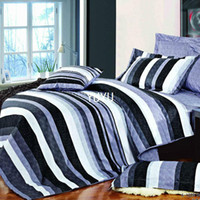 Wholesale fashion strip black and white purple pc bedding set queen Duvet quilt comforter covers bedlinen bedclothes Cotton home textile