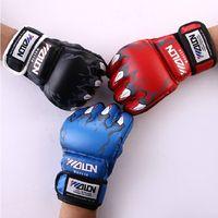 Wholesale dual card before half finger glove boxing Gloves Sanda gloves UFC Gloves sandbag gloves