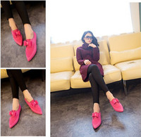Slip-On Women Spring and Fall 2014 NWT Spring Ladies Thicken Flat Shoes Stylish Tip Casual Shoes with Bowknot