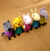 Wholesale 2014 New Peppa pig Pink Pig series Pepe friends styles Dog cat sheep rabbit elephant CM Plush Doll Toy