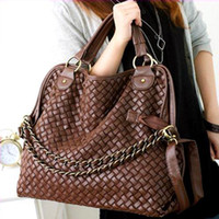 Wholesale S5Q BRAND NEW Korean Style Lady Hobo PU leather handbag shoulder Bag AAAAWS