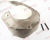 Cheap T25 T28 gt28 gt30 gt35 t37 t3 Exhaust Turbo Blanket TITANIUM Heat Wrap