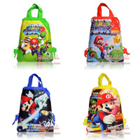 Backpacks Unisex 6T+ Hot game,New arrival,Party gift,12PCS Super Mario Bros Non-woven Kid's School bag , Kids favor,Birthday gift,Cartoon Backpack bags