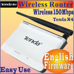 Wholesale English Firmware TENDA N4 Mbps WiFi Wireless Router Easy Install WDS Router four Ports M Wireless Router Ports WAN LAN No box