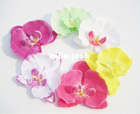 Wholesale pc U pick colors Orchid Artificial Flower Hair clips Bridal Hawaii Party Girl fascinator hair accessories