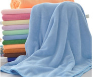 Wholesale Large Bamboo Fiber towel Microfiber towel mm Inch Color Quick Drying Health Bath Towel Soft Travel Dry Cloth cheaper sale