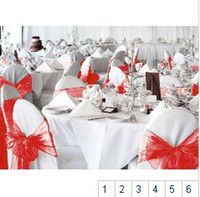 Cheap Wholesale 200PCS 18.75*280cm 6 Color Organza Chair Sashes Bow Cover for Banquet wedding party Decoration`