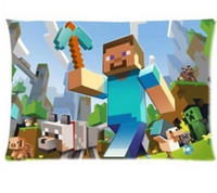 Wholesale Minecraft printed Pillow Case Pillow Case x Rectangle Pillowcase Two Sides Printed DIY