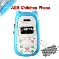 Color GSM 300min Wholesale - Low Radiation A88 Child mobile phone with 4 colors, SOS children mobile, kids cell phone, Free Shipp