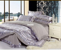 Wholesale New Listing Jacquard silk bedding set queen king size bed linen comforter cover duvet cover bedclothes set home textiles