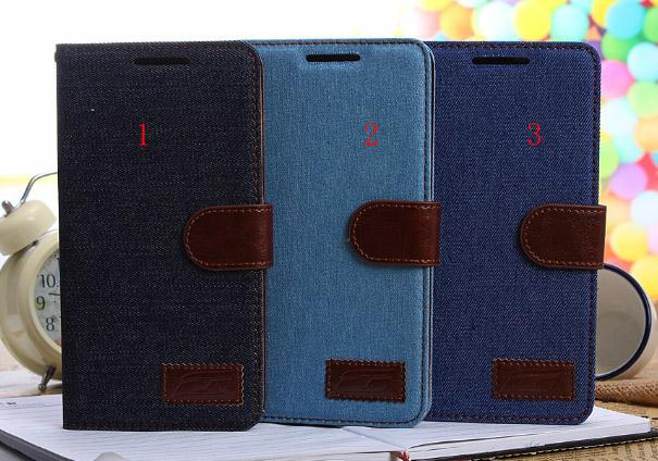 Buy Jean cowboy jeans cloth Leather wallet pouch case HTC One Max T6 stand holster credit card TPU luxury skin cover cases