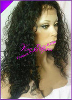 Wholesale Fashion Brazilian virgin Curly hair front Lacewig Full lace wig glueless with Baby hair for african americans Freeshipping