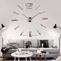 Wholesale funlife cm cm in Large Mental D Big Size Home Decor Sticker Wall Clock FL12S003S FL12S003