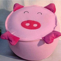 Wholesale Retail Super Cute pink pig Cartoon Inflatable Stool Animal Shaped Inflatable Stool thickened