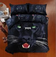 Cheap 100%cotton home textile 3d bedding set queen size black leopard Animal print duvet quilt cover bedclothes bed linen bedsheet set