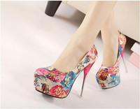 Wholesale Sexy Adoral Floral Stars High Heel Shoes Luxury Gradient Heel Stiletto Heel Pumps
