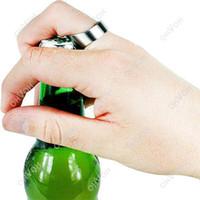 Wholesale S5Q Mini Fasion Stainless Steel Finger Ring Bar Beer Bottle Opener Portable Tool AAAAQV