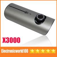 Wholesale Car DVR GPS Dual Camera Lens X3000 New quot LCD Full HD P Blackbox Camcorder R300 G Senor Sample Top Quality