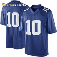 Wholesale Football Jerseys New Eli Manning Embroidery Names and Logos Football Wears Discount Royal Blue Athletic Apparel Top Quality Apparel