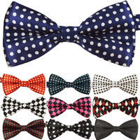 Wholesale AAAAA Mens Womens Unisex Floral Leisure Polka Dot Stripes Print Bowtie Neckwear Bow Tie style available