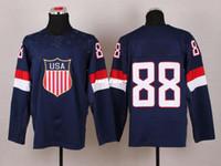 Cheap Cheap Hockey Jerseys 2014 New olympic 88 Fashion Mens Jersey navy blue Athletic Apparel wholesale hockey jerseys stitched jersey