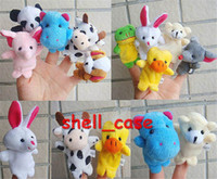 Wholesale 2014 Old Macdonald had a farm toys Baby Plush Toy Cartoon Animal Finger Puppet finger doll baby dolls Animal doll talk prop