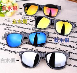 Descuento espejo de cristal clásico El envío libre de la oferta especial clásicas gafas de sol gafas de sol reflectantes mujer gafas de sol masculinas espejo rana moda