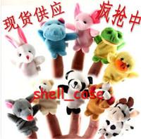 Wholesale New Old Macdonald had a farm toys Baby Plush Toy Cartoon Animal Finger Puppet finger doll baby dolls Animal doll talk prop