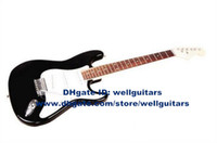 Wholesale Custom Shop ST Metal Black Beauty Basewood Body Rosewood Fingerboard Maple Neck Basewood For Beginners Electric Guitar No