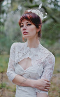 Wedding beauty free sleeves - Hot New Arrival High Quanlity Lace Sleeve Jacket For Beauty Bridal Dress DH7241