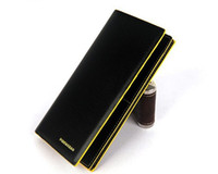 Fashion Leather Long Wallet Purse Money Clip (4 colours)