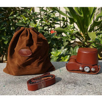 Wholesale quot Ever Ready quot Protective Brown Leather Camera Case Bag Cover for Sony NEX N NEX3N Digital Camera