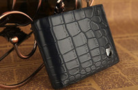 Wholesale Crocodile Patten Leather Wallet Purse Money Clip black coffee