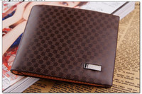 Wholesale Light Coffee Leather Wallet Purse Money Clip Billhold