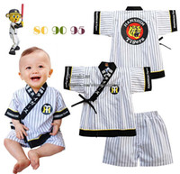 Wholesale Child Suit Infant Clothing Two Piece Baby Stripe Short Sleeve Tops Summer Shorts Boys Kimono Children Set Kids Suit Outfits Toddler Clothes