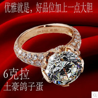 Wholesale Stamp PT950 plated white Gold Ring CT Synthetic Diamond Ring Anniversary Ring Wedding Rings Valentine s Day Gift