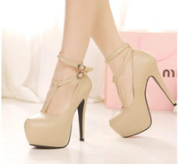 Wholesale Sexy Nude Black High Heel Gladiator Shoes Women Ankle T Strappy Stiletto Heel Pumps Prom Dress Shoes