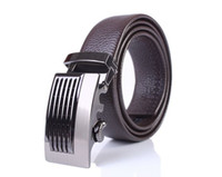 Wholesale Mens Automatic Buckle Leisure Genuine Leather Belt Waistband black coffee