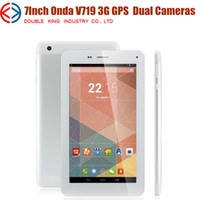 Wholesale 100 Orginal Onda V719 G Phone Call Tablet PC inch MTK8312 Dual Core Android MB GB Dual Cameras GPS Wifi Bluetooth FM x600 pix