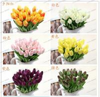 silk tulips - LLFA4300 pu mini tulip flower real touch wedding flower artificial flower silk flower home decoration