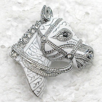 Other american leaders - Clear Crystal Rhinestone Enameling Leader Horse Pin Brooch Fashion jewelry gift C386 A