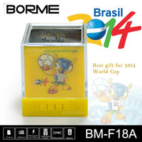 2014 Brazil World Cup Mascot USB TF Reader Speaker