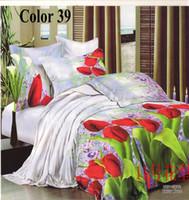 Adult Plain Polyester / Cotton 3D Luxuriantflowers designs bedding sets home textile duvet cover bed sheet queen size antistatic bed linen 4pcs