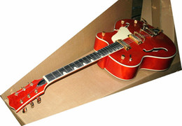 Wholesale Best Selling Falcon Jazz Guitar Orange Color Top Musical instruments