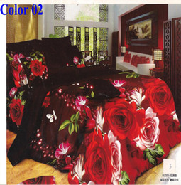 Wholesale Flower Butterfly peacock D dandelion designs girls bedding set queen king size bedclothes bedsheet pc home textile