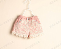 Wholesale Factory Price High Quality Girl Lace Shorts Fashion Greey Pink Colour Children s Hot Pants Kids Casual Shorts QZ540