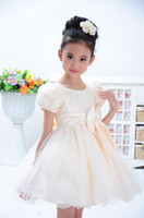 TuTu Summer Ball Gown %100 Actual Filming High Quality Flower Girl Dress Guaze Children Wedding Dress Graduated Birthday Princess Dress Fit 3-10T Kids QZ542