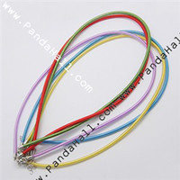 Wholesale Silk Cord Neckalces with Brass Lobster Clasps Mixed Color quot NFS005